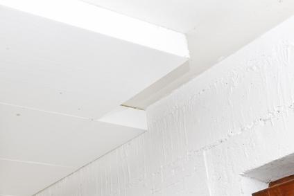 Wärmedämmung an einer Kellerdecke - Detailaufnahme
